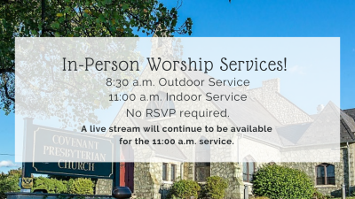In-Person & Live Streaming Worship Service